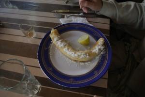 Lemon and sugar pancake - perfect