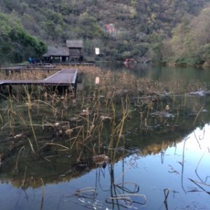 Peaceful lake on Mount Wudang. Recognise this from Karate Kid?