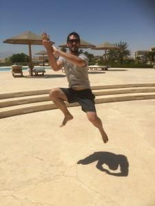 FWC Kung Fu Instructor Richard Wagstaff doing backward jump