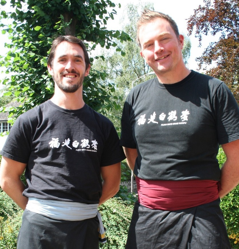 Stephen with his instructor, Ricard Wagstaff, from the Fujian White Crane Kung Fu London South Club.