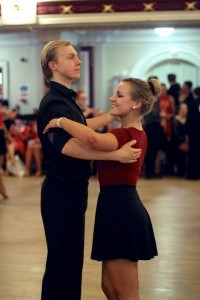 FWC Cambridge University student Jack Lawrence and his dance partner Sarah.