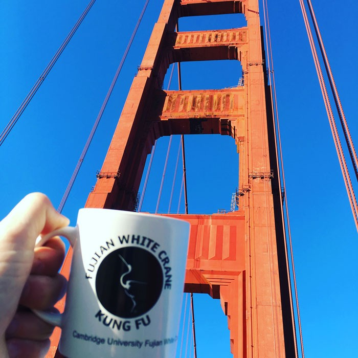 FWC Cambridge Mug at the Golden Gate Bridge