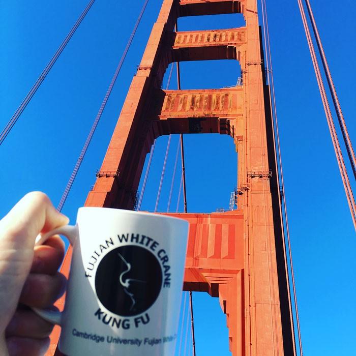 FWC Cambridge Mug at the Golden Gate Bridge