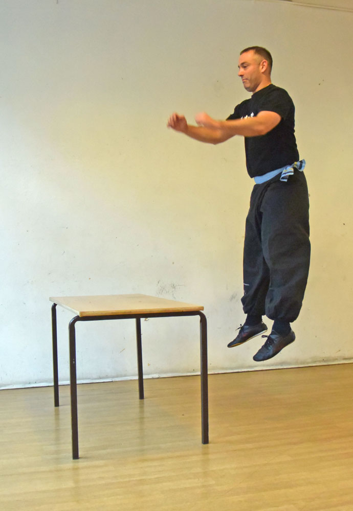 FWC Instructor Dave Courtney Jones performing a standing jump