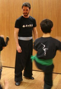 FWC Instructor Richard Wagstaff teaching a children's Kung Fu class
