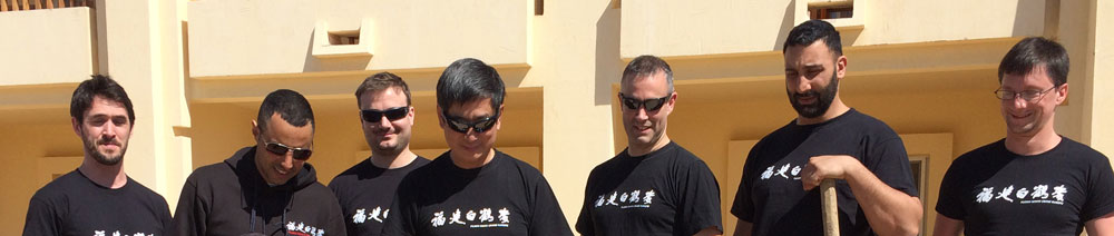 Instructors of the Fujian White Crane Kung Fu Club plant an olive tree in Egypt