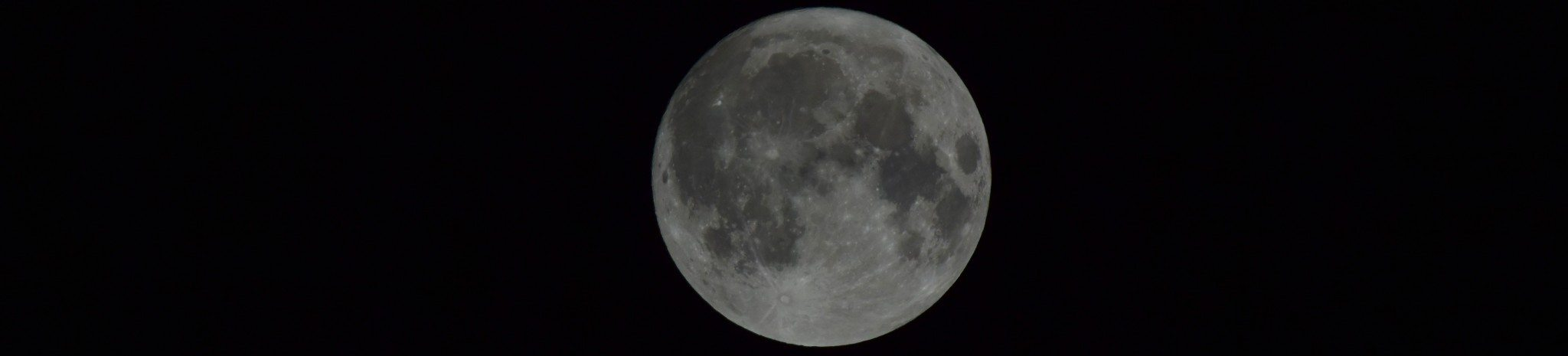 A beautiful Autumnal moon on a crisp clear night