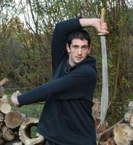 r Joshua Villar Hauser, Fujian White Crane Kung Fu & Tai Chi Martial Arts - practising Chinese Broadsword pattern