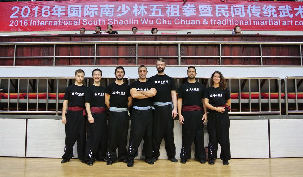 Instructors and Students from the Fujian White Crane Kung Fu & Tai Chi Martial Arts Club at the 2016 Shaolin Invitational competition