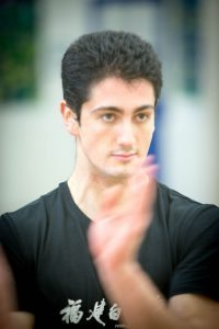 Joshua Villar, Instructor, Fujian White Crane Kung Fu & Tai Chi Martial Arts Club, lower crane block.