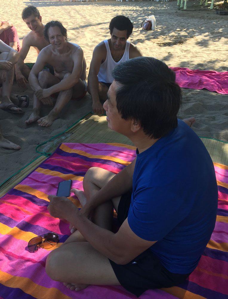 Dennis Ngo, Chief Instructor, Fujian White Crane Kung Fu & Tai Chi Martial Arts Club, training in Crete