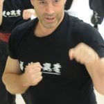 Instructor Dave Courtney Jones does freehand technique at the instructor training of the Fujian White Crane Kung Fu & Tai Chi Martial Arts Club (FWC Kung Fu).