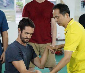 Richard Wagstaff, Instructor, FWC Kung Fu training with Su Jun Yi of the Yongchun YiYun Society, China