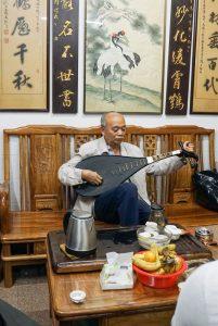 Su Ying Han, of the Yongchun YiYun Society, China. playing the Pipa