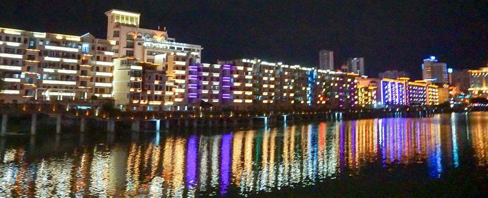 The Tung Ch'i River, by night - Yongchun, China