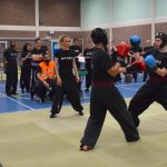 Action photo from the 2018 FWC Kung Fu Club Sparring Competition